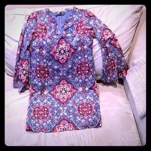 White House Black Market XS Printed Shift Dress